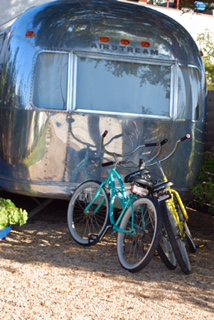 Airstream and bikes