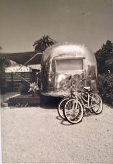 Black and White Airstream